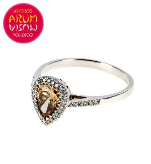 White Gold Ring with Brilliants 0,81 and 0,18 cts. RAJ367