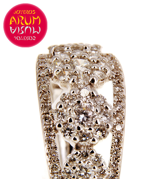 White Gold Ring with 5 Flowers with Brilliants 0.76 cts RAJ368