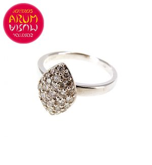 White Gold Ring with Brilliants 0.55 cts RAJ371