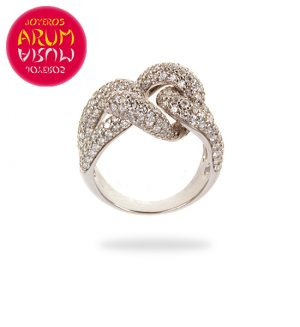 White Gold Ring with Brilliants 3.26 cts. RAJ376