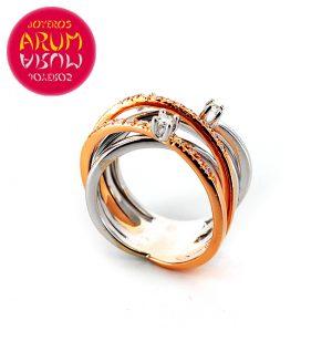 Gold Ring with Brilliants 0.24 & 0.11 qts. RAJ388