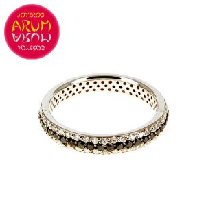 White Gold Ring with Brilliants 0.49 and 0.52 cts RAJ390
