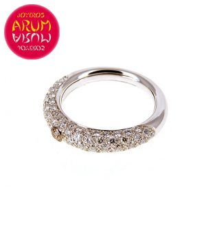 White Gold Ring with Brilliants 1.12 cts RAJ392