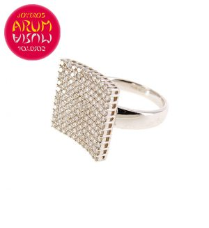 White Gold Ring with Square with Brilliants 1.33 cts RAJ402