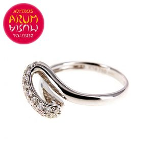 White Gold Ring with Brilliants 0.49 cts. RAJ421