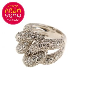 White Gold Ring with Brilliants 4.53 cts. RAJ422