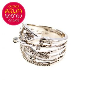 White Gold Ring with Brilliants 0.44 qts. RAJ427