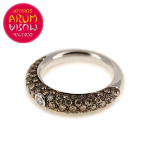 White Gold Ring with Brilliants 0.06 & 1.23 qts RAJ430