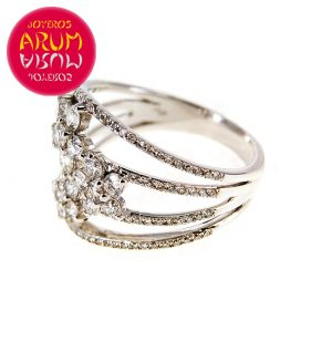 White Gold Ring with Brilliants 1.16 cts. RAJ438