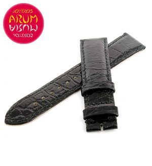 Cartier Strap Tank / Ronde Black Crocodile Leather KD25AE24