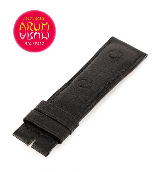 Z Jaeger-LeCoultre Strap Black Ostrich Leather C-K 18 - 16