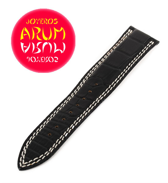 Z Jaeger-LeCoultre Strap Black Crocodile Leather 21 - 18 QC21B8F