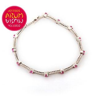 Damiani Bracelet Brilliants and Pink Sapphires RAJ293