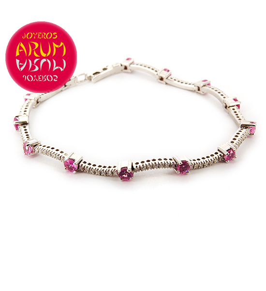 Damiani Bracelet Brilliants and Pink Sapphires RAJ293