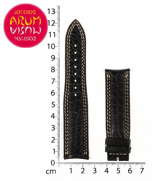 Z Jaeger-LeCoultre Strap Black Crocodile Leather N-I 21- 18