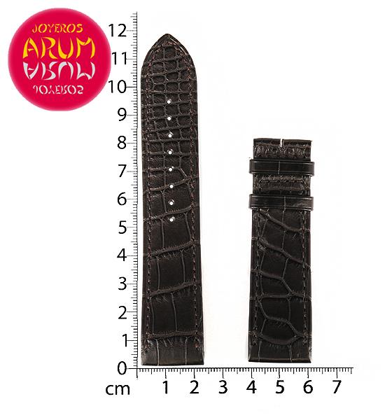 Z Jaeger-LeCoultre Strap Brown Crocodile Leather H-J 22 - 20