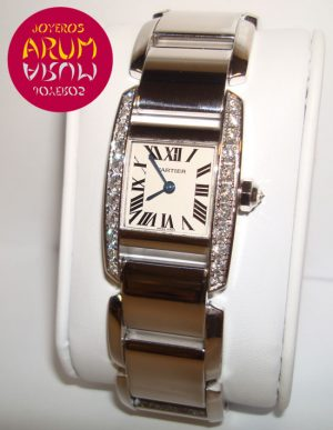 Cartier Tank White Gold & Diamonds