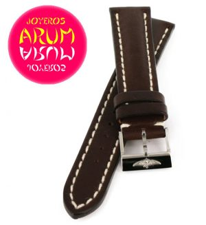 Breitling Strap Brown Leather 18 - 16
