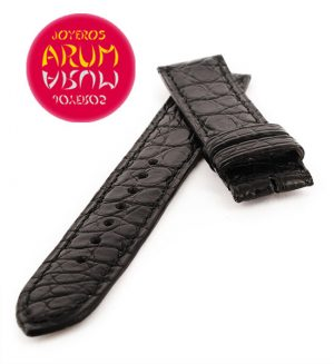 Cartier Strap Tank / Ronde Black Crocodile Leather KD25KA80