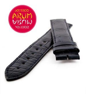 Cartier Strap Tank / Ronde Blue Crocodile Leather KD43BK29