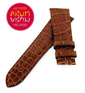 Cartier Strap Tank/Ronde Crocodile Brown Leather KD20QN67