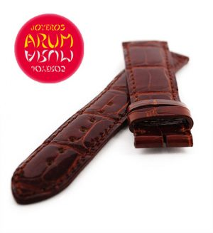 Cartier Strap Tank / Ronde Brown Crocodile Leather KD31AS04