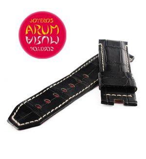 Z Panerai Ferrari Strap Black Crocodile Leather 24 -22