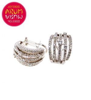 White Gold Earrings with Brilliants 2.05 cts. RAJ400