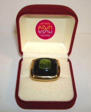Pomellato Ring Onyx & Turmaline