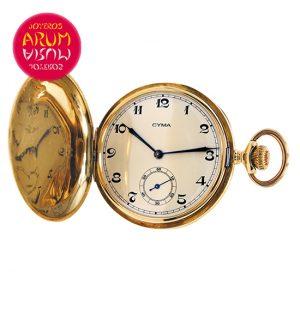 Cyma Pocket Watch 18K Gold Shop Ref. 3807/521