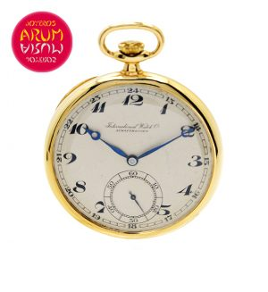 IWC Pocket Watch 18K Gold Shop Ref. 3765/469