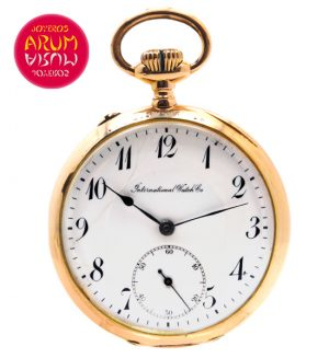 IWC Pocket Watch 18K Gold Shop Ref. 3838/557