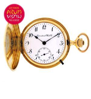 IWC Pocket Watch 18K Gold Shop Ref. 3949/674