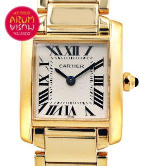 Cartier Tank Francaise Yellow Gold Shop Ref. 3971/696