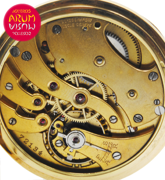 Ulysse Nardin Pocket Watch 18K Gold Shop Ref. 4064/787