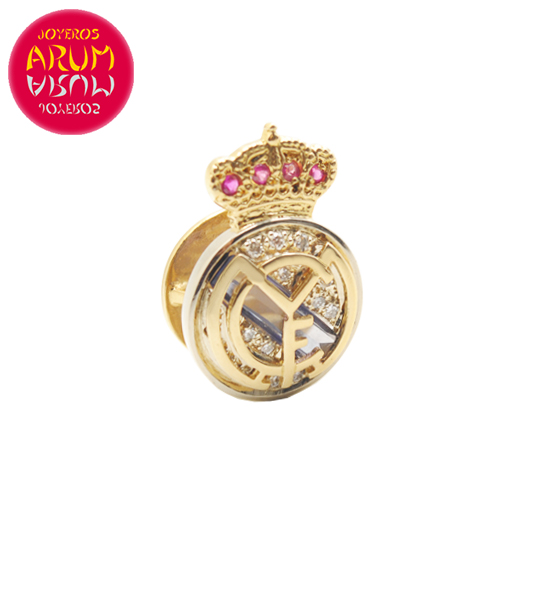 Real Madrid Insignia 18K Gold Diamonds Sapphires Ruby