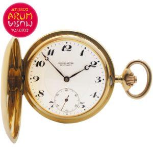 Movado Pocket Watch 18K Gold Shop Ref. 4173/898