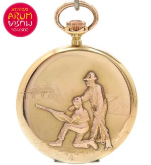 L.Gerlach Pocket Watch 18K Gold Shop Ref. 4135/858