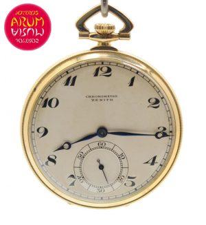 Zenith Pocket Watch 18K Gold Shop Ref. 4134/857