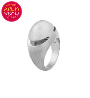 Bulgari Cabochon Ring White Gold RAJ1013