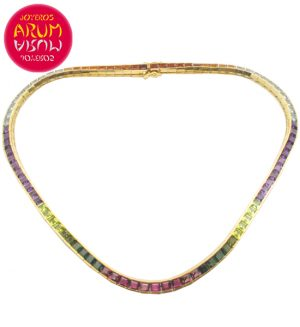 H.Stern Necklace Gold and Turmalines