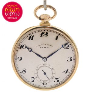 Cyma Pocket Watch 18K Gold Shop Ref. 4162/887