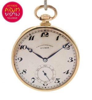 Cyma Pocket Watch 18K Gold Shop Ref. 4162/887