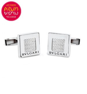 Bulgari Quadrato Cufflinks White Gold RAJ1030