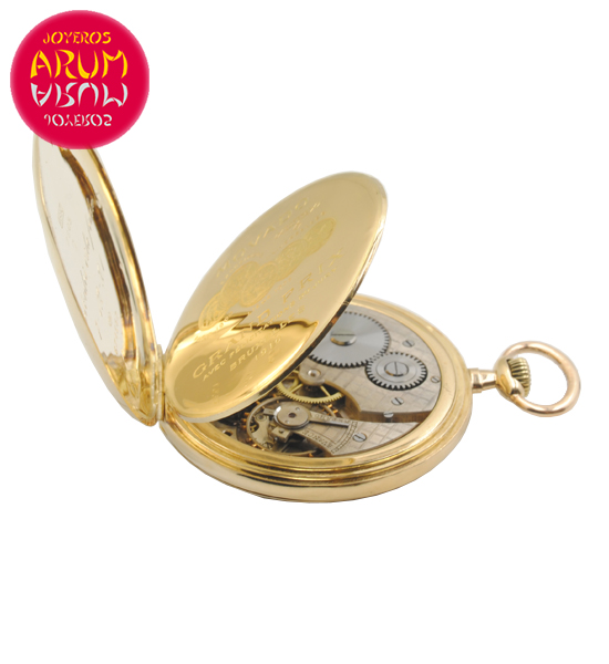 Movado Pocket Watch 18K Gold Shop Ref. 4241/966