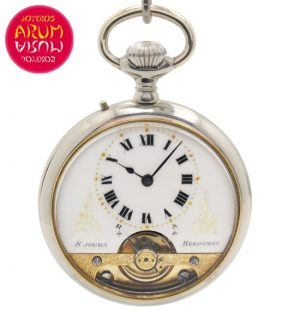 Hebdomas 8 Jours Pocket Watch Shop Ref. 4008/732