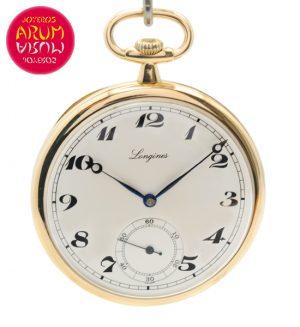 Longines Pocket Watch 18K Gold Shop Ref. 4220/945
