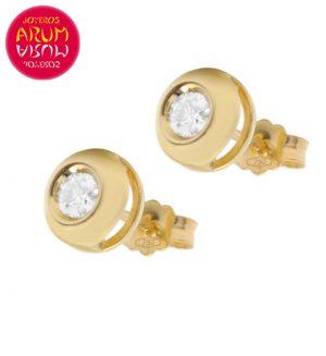 18K Yellow Gold Earrings with Diamond 0,30 cts. RAJ1049