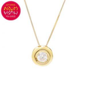 Chain and Pendant 18K Yellow Gold Diamond 0.16 cts RAJ1055
