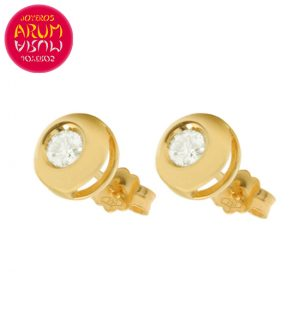 18K Yellow Gold Earrings with Diamond 0,20 cts. RAJ1048